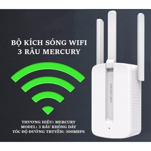 Mua Bộ Kich Song Wifi 3 Rau Mercury Wireless 300Mbps Cực Mạnh Rẻ Việt Nam