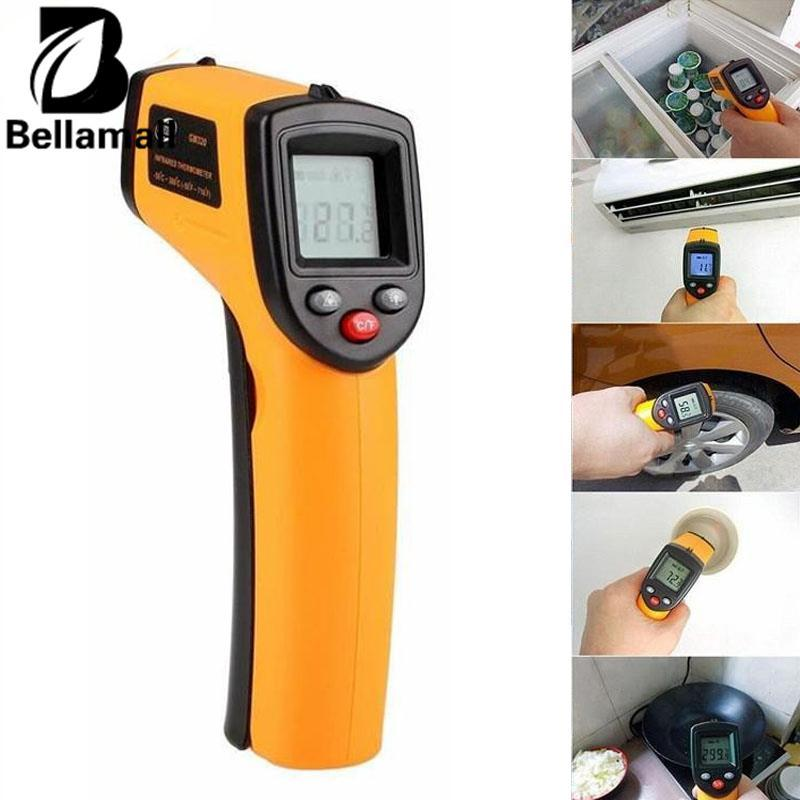 Hình ảnh Bellamall:Digital LCD Display Non-Contact Infrared Thermometer IR Laser Point Temperature - intl