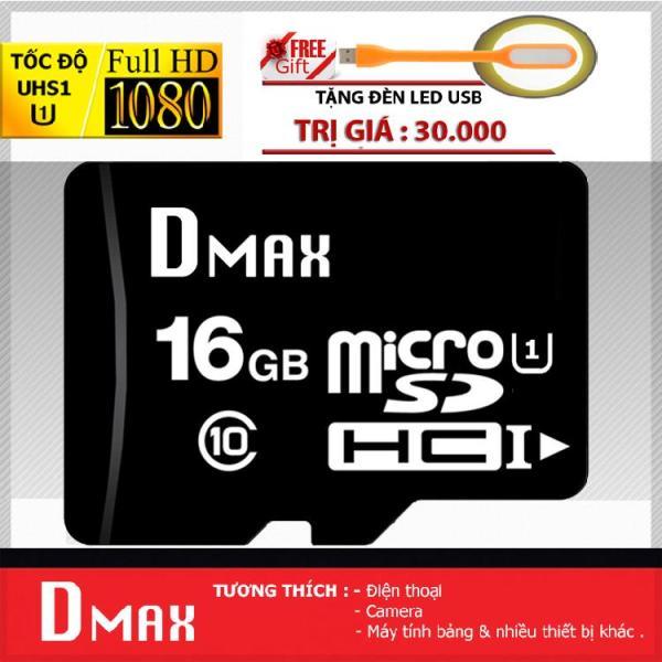 Thẻ nhớ 16GB tốc độ cao UHS1 U1, up to 90MB/s Dmax Micro SDHC class 10 - Bảo Hành 5 năm+ Tặng đèn led