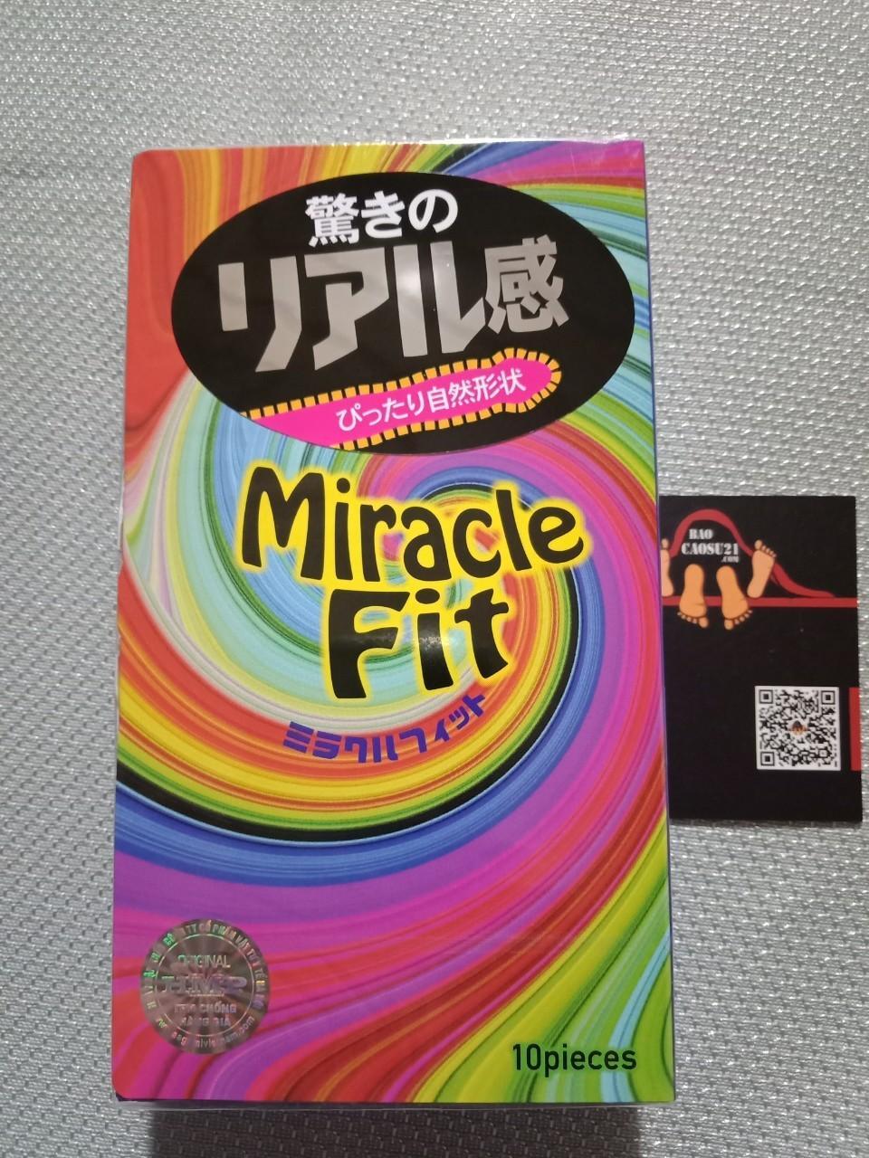 Hình ảnh BCS21 Bao cao su Sagami Miracle Fit 3D ôm khít kéo dài thời gian ( 10 chiếc)