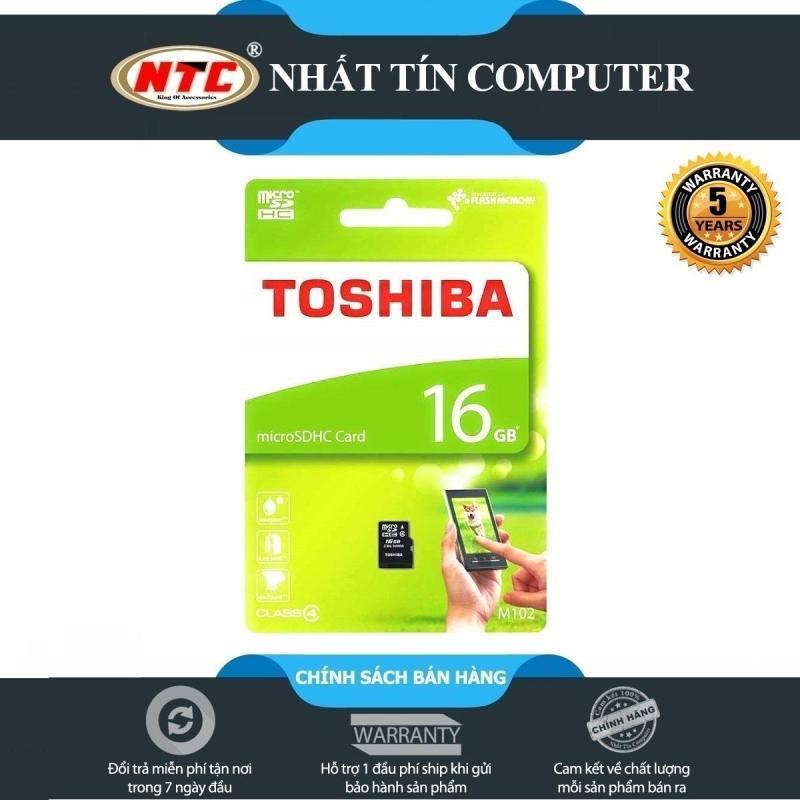 Thẻ nhớ microSDHC Toshiba M102 16GB Class 4 (Đen)