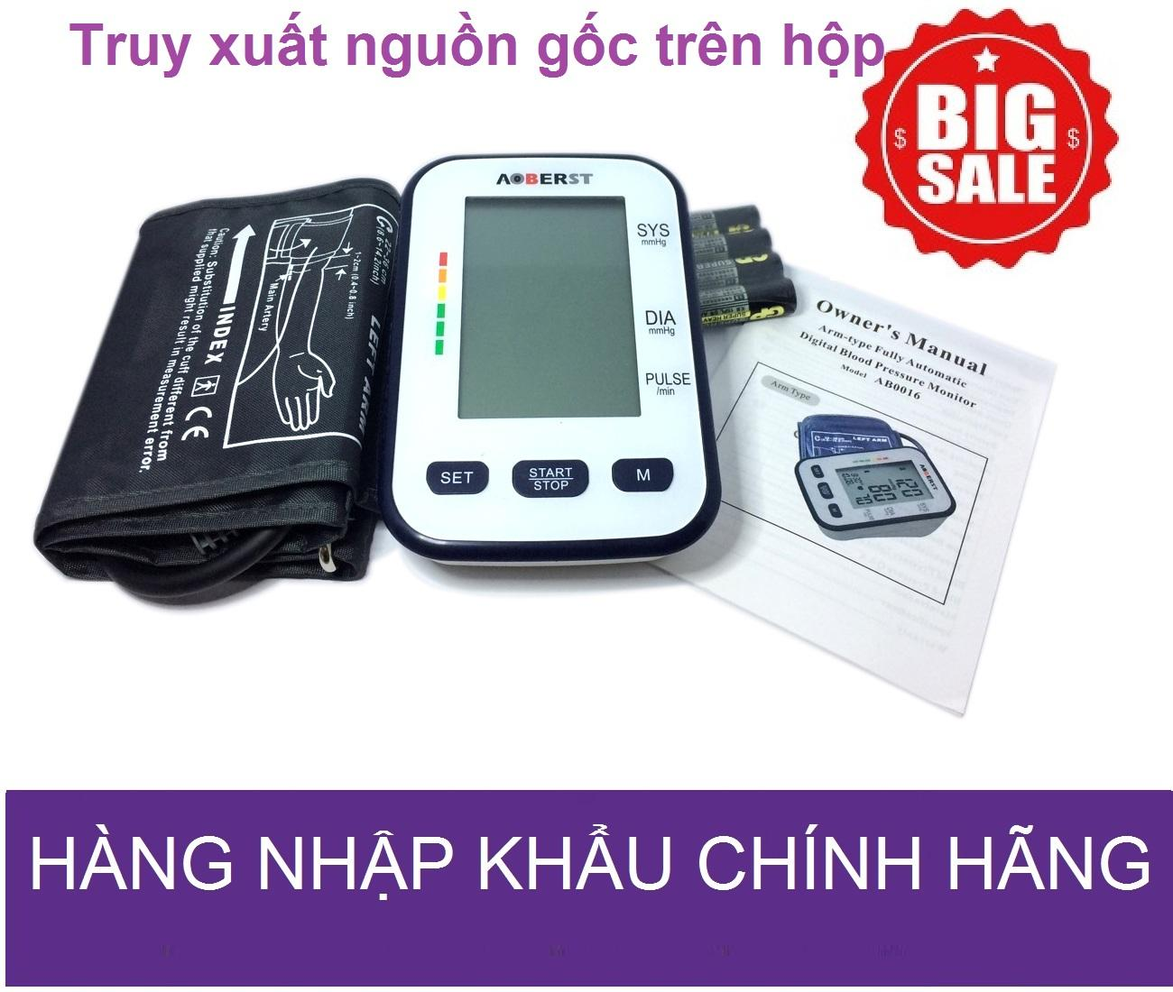 Máy đo huyết áp bắp tay AOBERST công nghệ Đức màn hình LCD lớn ( Bảo hành 2 năm)