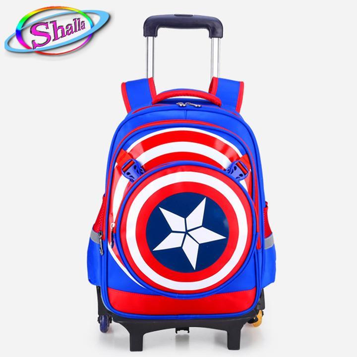Hình ảnh Balo kéo 3 bánh xe siêu nhân Avanger học sinh 6-12 tuổi