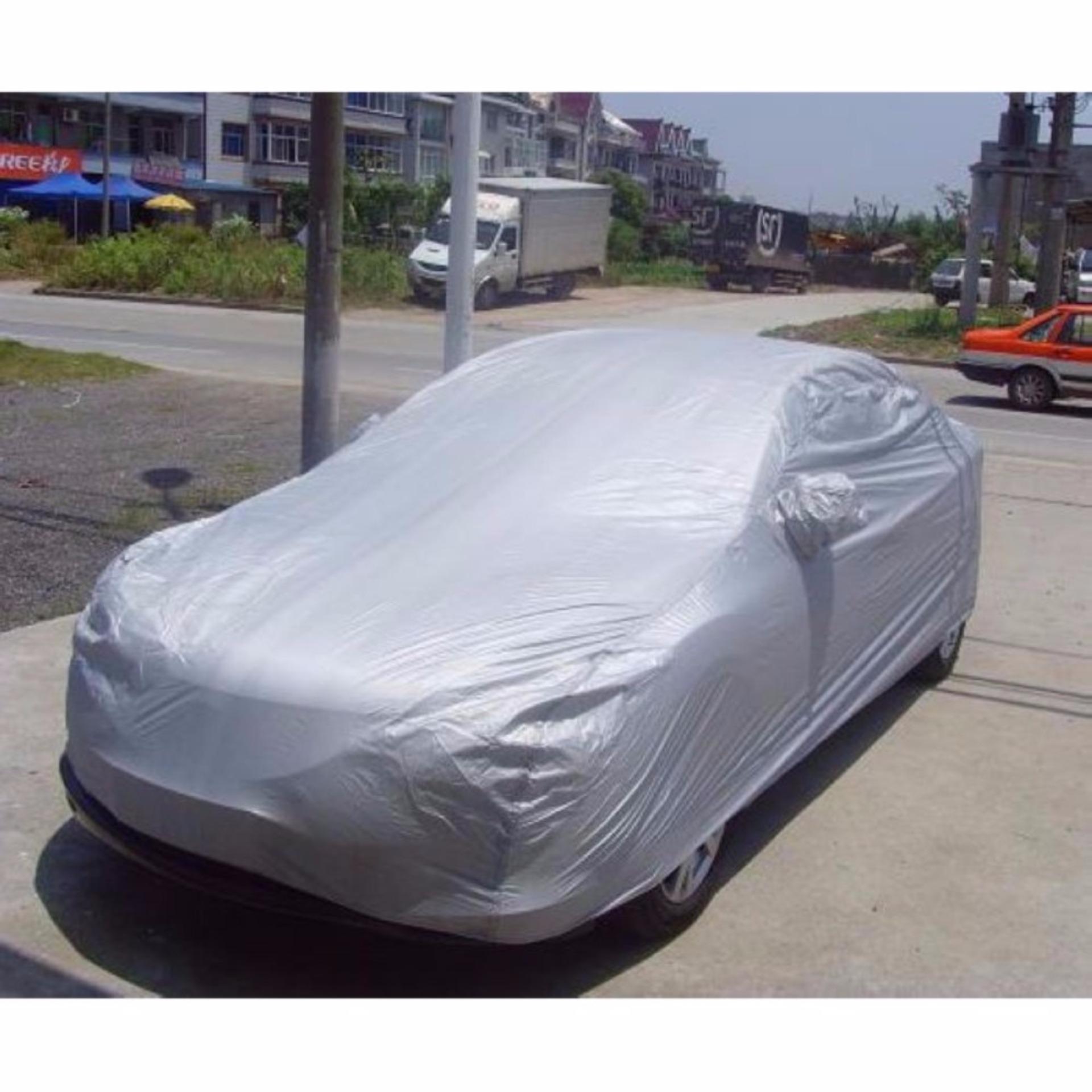 Bạt phủ ôtô 2 lớp bảo vệ oto, xe hơi 4-5 chỗ (chống nắng, mưa, trộm gương)