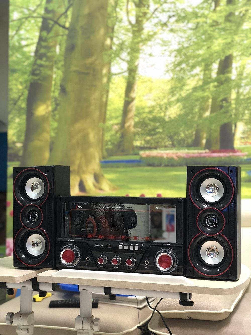 Hình ảnh Dàn âm thanh tại nhà - loa vi tính hát karaoke có kết nối Bluetooth USB Isky - SK335U 2.1