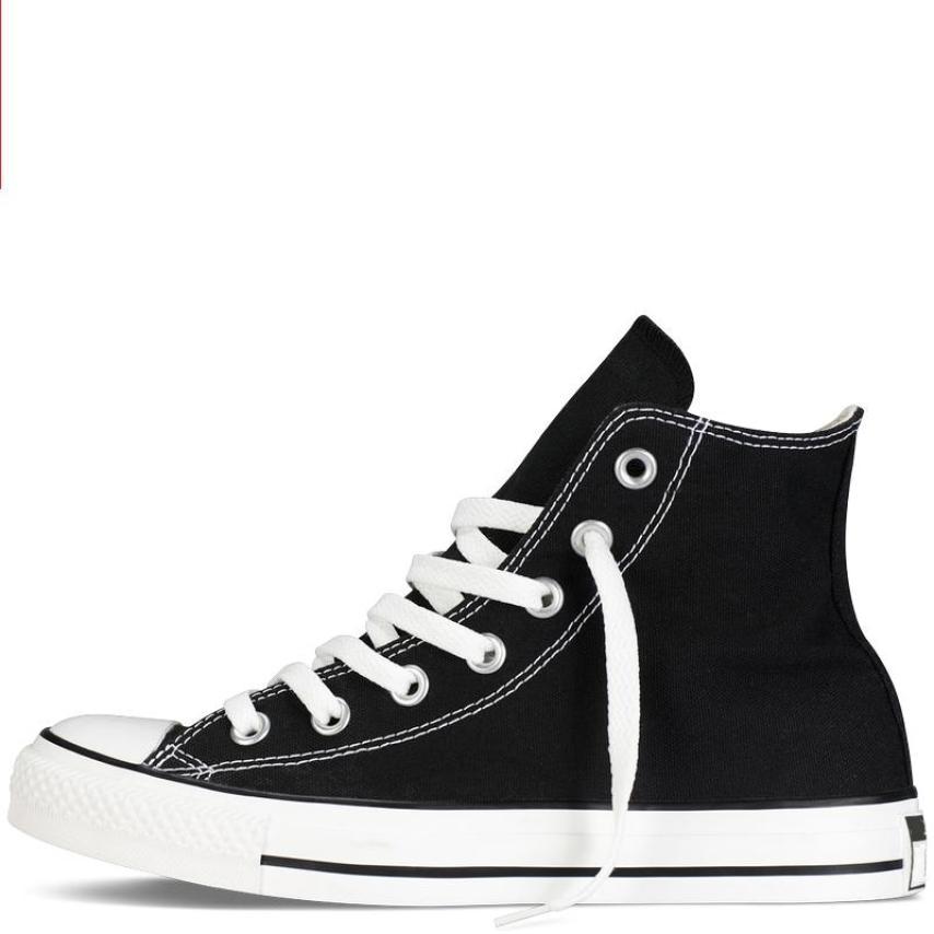 Giày Vải Sneaker CV Classic Cổ Cao Đen giá rẻ