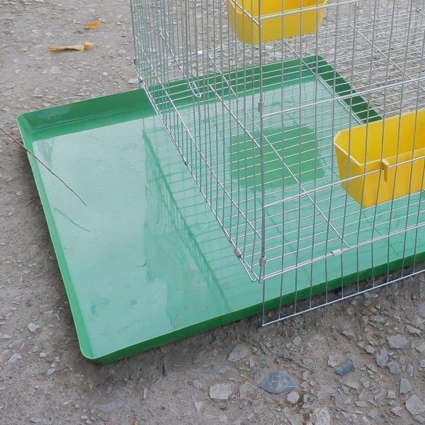 HN-Khay vệ sinh cho chim cảnh (khay nhựa màu xanh) - khay hứng kít lồng chim, lồng chó mèo ( 50x50cm) - Dùng