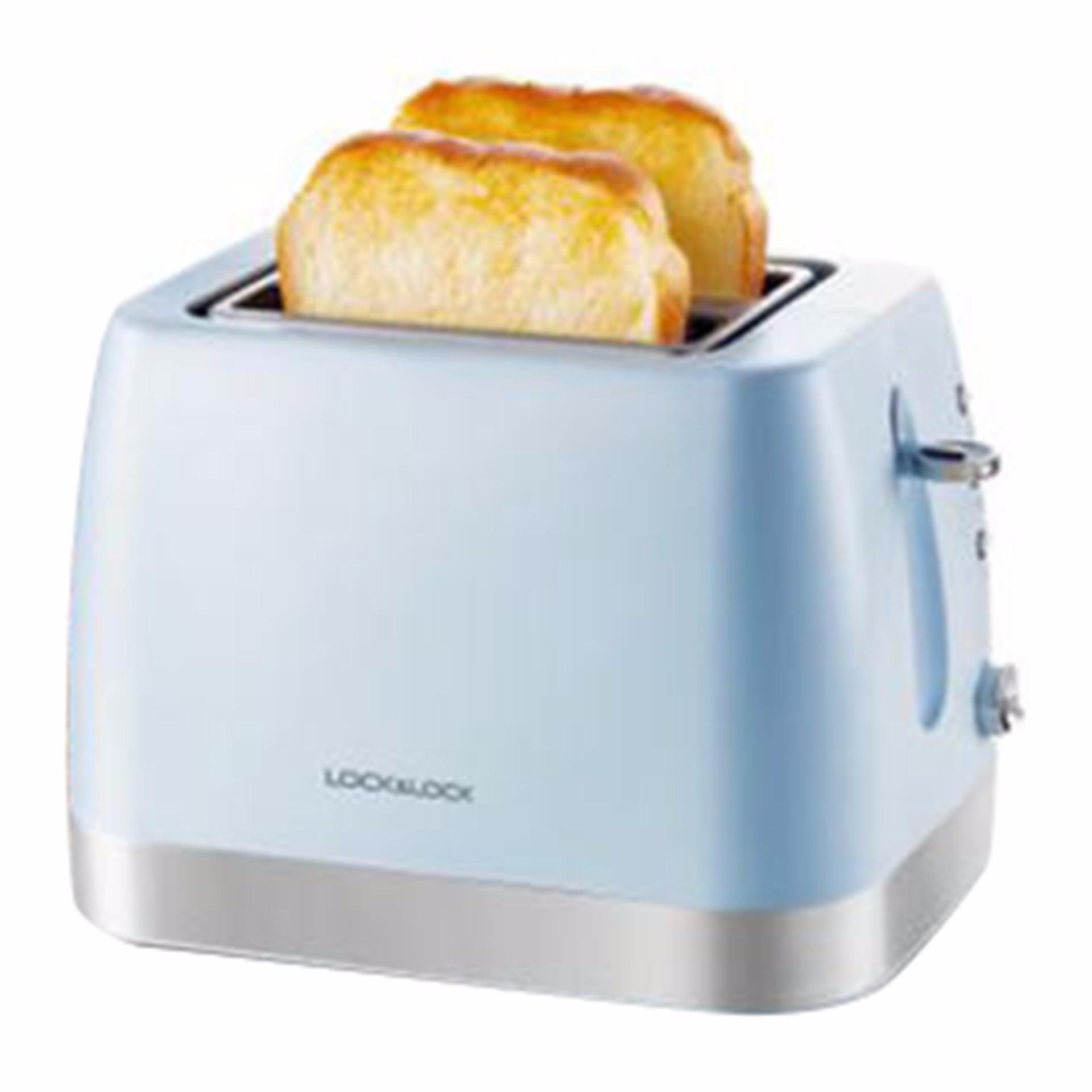 Máy nướng bánh mì LOCK&LOCK công suất 730W, Máy nướng bánh mì mini, Máy làm bánh mì gia đình, Máy nướng bánh mì 2 ngăn, Máy nướng bánh mì gối tiện dụng tùy chỉnh với 6 cấp độ giúp bánh được nướng chín đều, thơm ngon