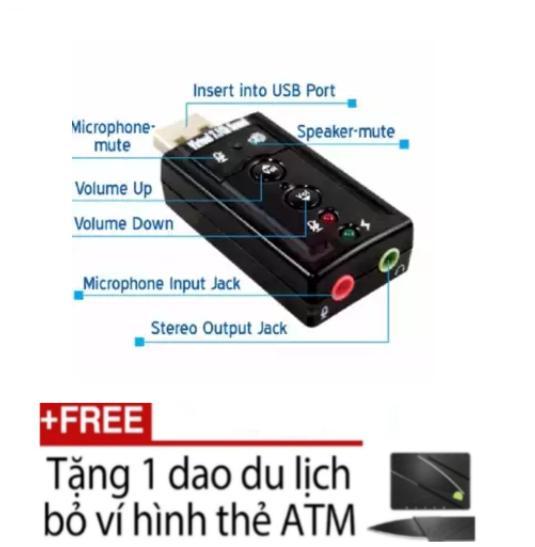 Giá Card sound âm thanh 3D Taiwan 7.1 + Dụng cụ cắt bỏ ví TA01