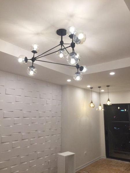 Đèn Chùm Phân Tử Ondric TBD188 10 bóng + 10 Bóng led Edison G45