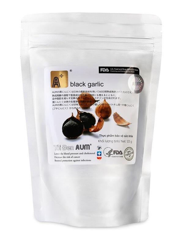Tỏi đen AUM - 01 kg (cô đơn 1 tép nguyên vỏ)