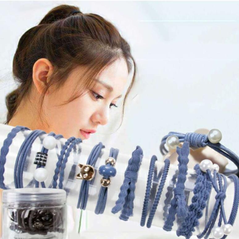 Giá bán Set 12 dây buộc tóc Hàn Quốc CÓ HỘP
