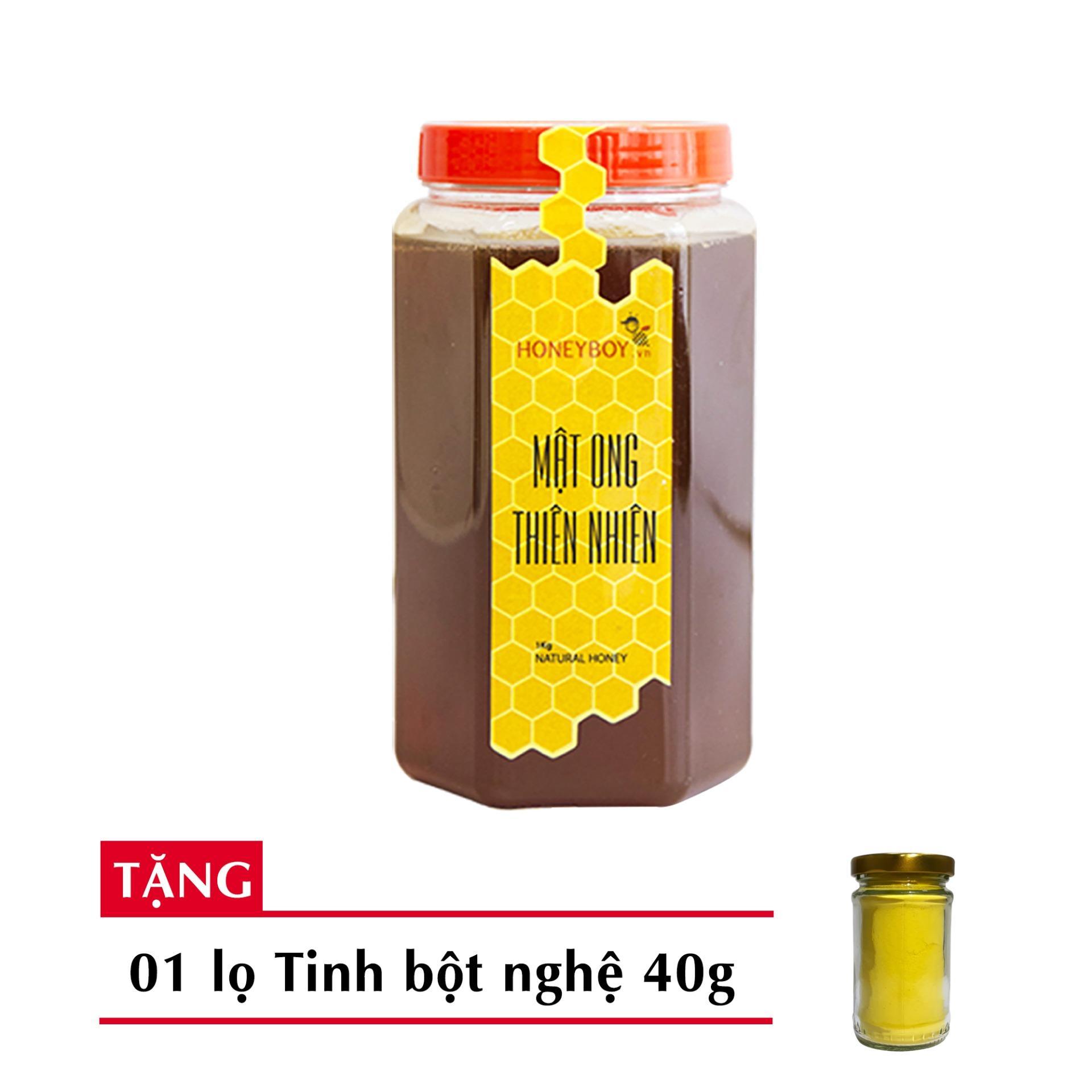 Mật Ong Thiên Nhiên Honeyboy 1Kg Tặng Tinh Nghệ 40G nhập khẩu