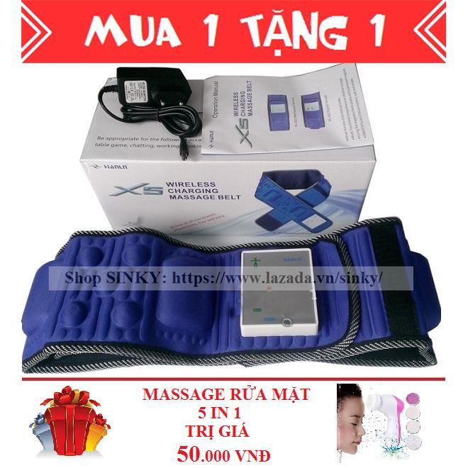 Chiết Khấu Đai Mat Xa Giảm Mỡ Bụng X5 Tich Hợp Pin Xanh Đen Tặng 1 May Massage Rửa Mặt 5 In 1 Oem Hồ Chí Minh