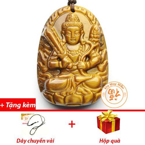 Mặt Dây Chuyền Phật Bản Mệnh Hư Không Tạng Bồ Tát Mắt Hổ Vàng Nhí