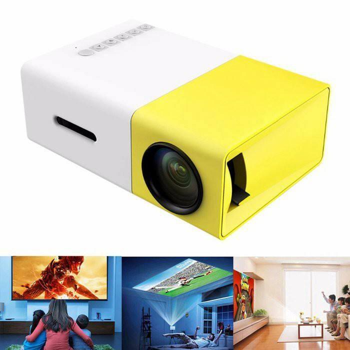 Hình ảnh Máy chiếu mini gia đình,Máy chiếu màn hình LCD TFT HD1080 YG300 MINI LED kết nối nhanh chóng với các thiết bị Laptop, Smarphon, máy ảnh,….sale lớn 50%..11,