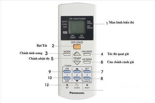 Điều khiển điều hòa panasonic CS 1 Chiều xịn (trắng)
