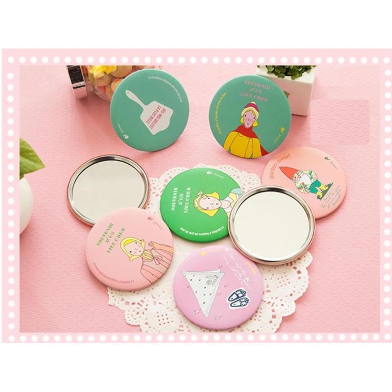 Gương cầm tay mini phong cách Hàn Quốc (màu sắc ngẫu nhiên) nhập khẩu