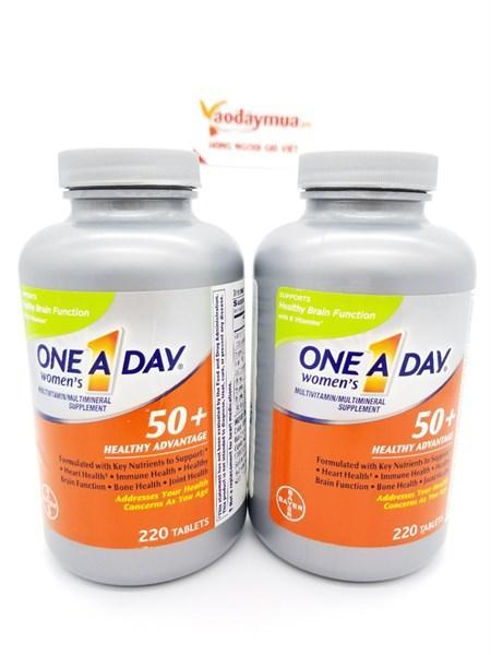 Viên uống bổ sung vitamin cho NỮ giới trên 50 tuổi One A Day For WoMen 50+, hộp 220 viên - Mỹ (hộp)