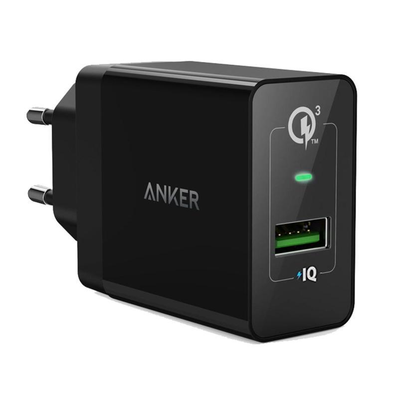 Giá Sạc ANKER PowerPort+ 1 cổng 18w Quick Charge 3.0 có PowerIQ (Đen)