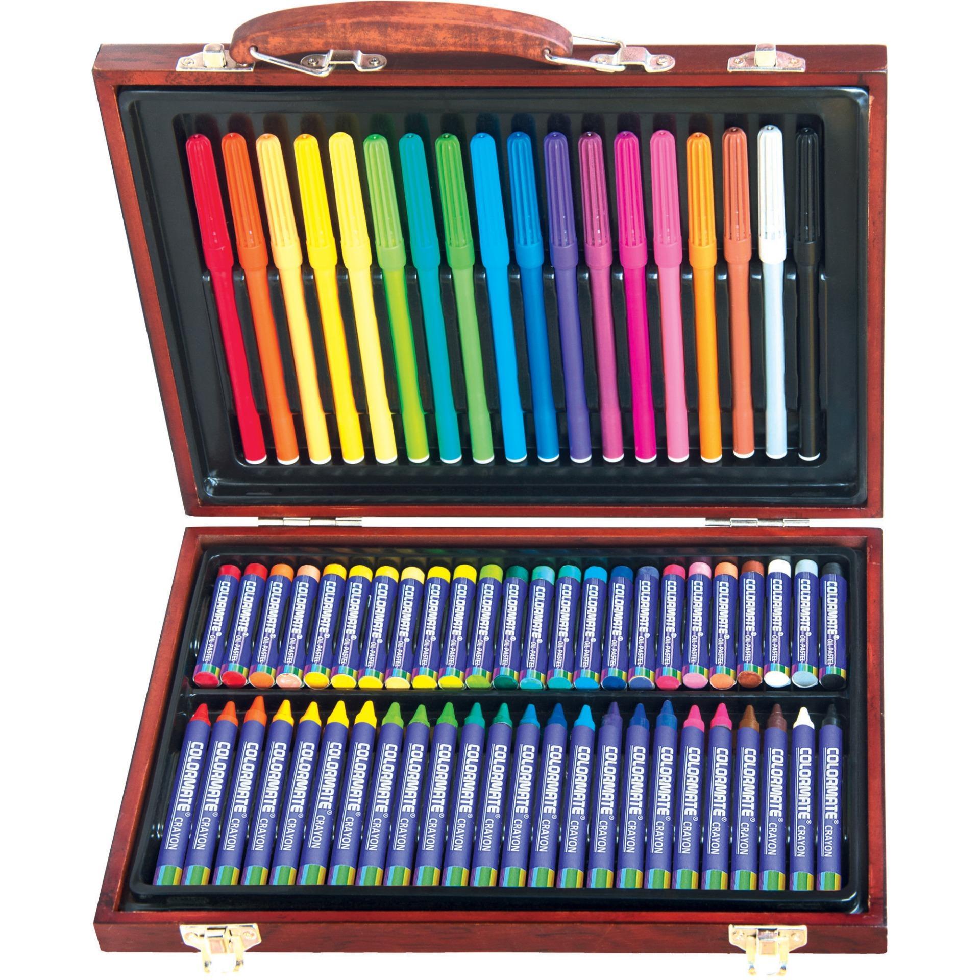 Hình ảnh Bộ màu vẽ đa năng hộp gỗ Colormate MS 67W