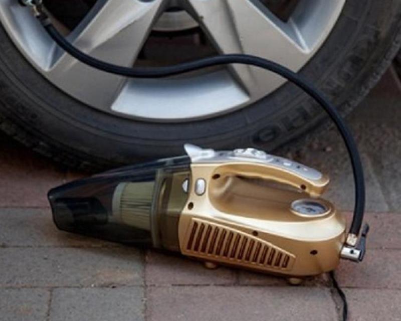 Máy hút bụi cầm tay oto, xe hơi kiêm bơm lốp xe đa năng Agiadep (Bán chạy)