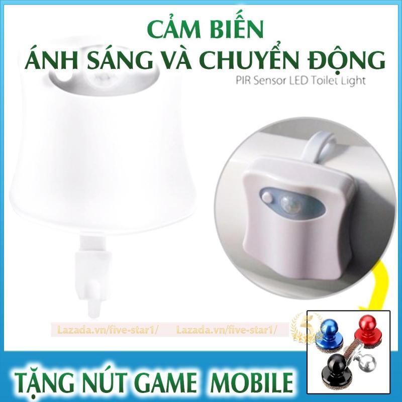 Đèn cảm ứng nhà vệ sinh - Đèn pha led cảm biến chuyển động + Tặng nút game Joystick (DEN.WC)