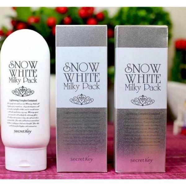 [Lấy mã giảm thêm 30%] Kem Tắm Trắng Secret Key Snow White Milky Pack giá rẻ