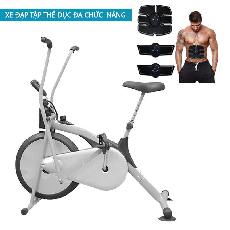 Xe đạp tập thể dục tại nhà Air Bike cao cấp + Tặng máy massage xung điện EMS