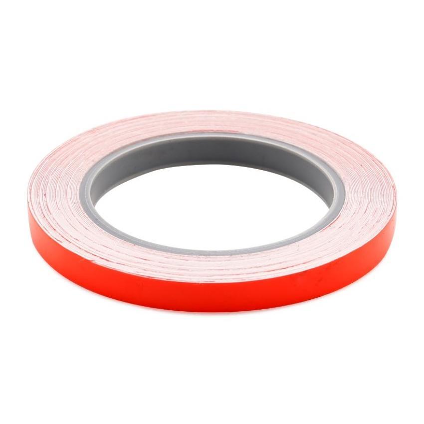 Cuộn 5 mét Decal Phản Quang dán viền thân xe (đỏ)