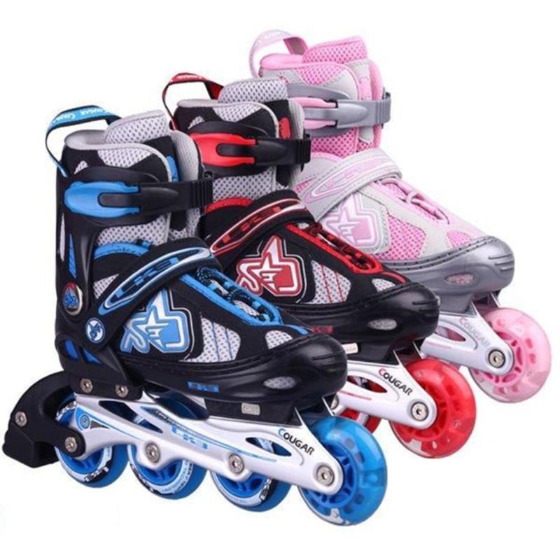 Phân phối Day ba tin, Mua giay patin gia re, Giày trượt băng trẻ em tặng mũ và đồ bảo hộ (5 đến 14 tuổi) nhiều màu sắc bắt mắt, thiết kế cực dễ tập và an toàn cho trẻ  (Quà tặng kèm số lượng có hạn)