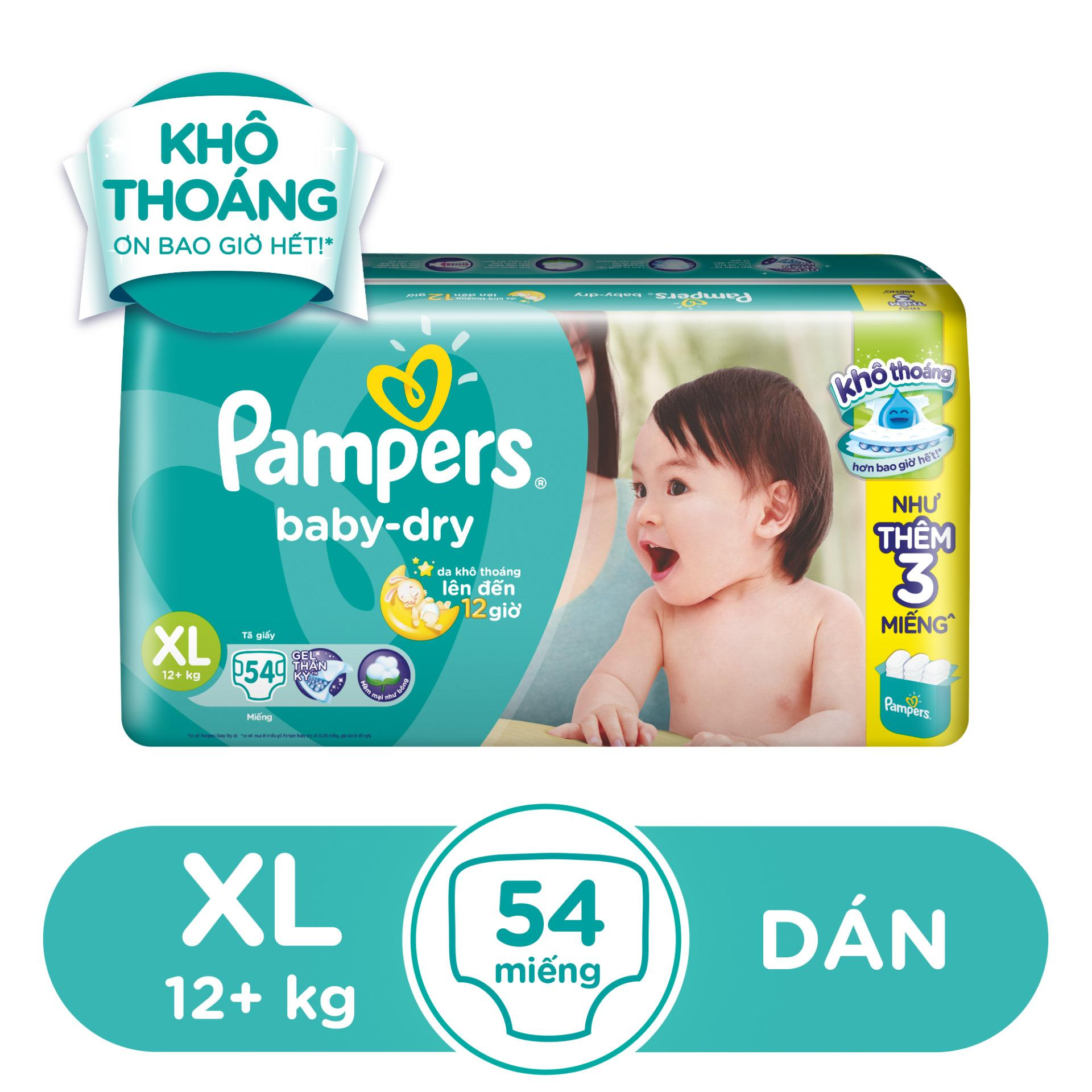 Bán Ta Dan Pampers Size Xl 54 Miếng Tren 12 Kg Pampers