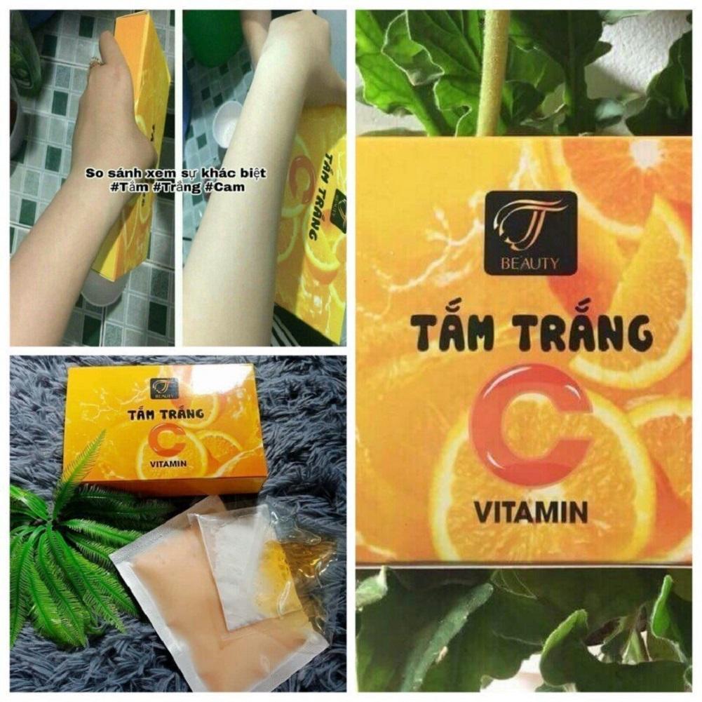 Bột tắm trắng cam (VITAMIN C) - MUA 3 TẶNG THÊM 1