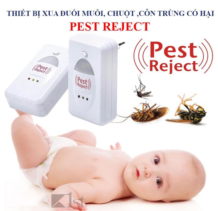 Den Chong Muoi, Thiết Bị Đuổi Muỗi, Chuột, Gián Mối Mọt Pest Reject Thế Hệ 3  Sống Âm Tần Số 0,338 Hz, Phòng Chống Bệnh Dịch Bảo Hành Uy Tín 1 Năm Bởi Vinmark Sg Mã 668