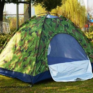 Lều cắm trại vải dù ră n ri SIÊU dày dặn 2 lớp - LOẠI 1 thumbnail