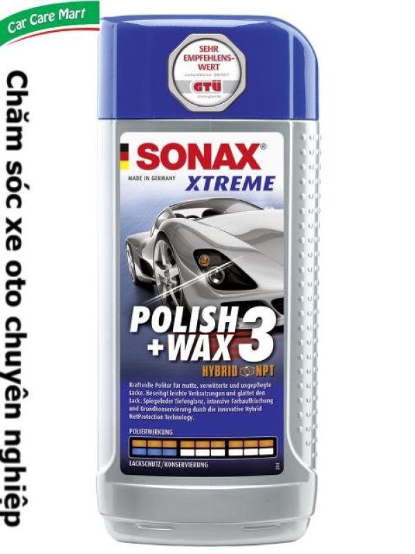 Kem đánh bóng, xóa xước quầng sơn xe ô tô - Sonax xtreme polish wax 3