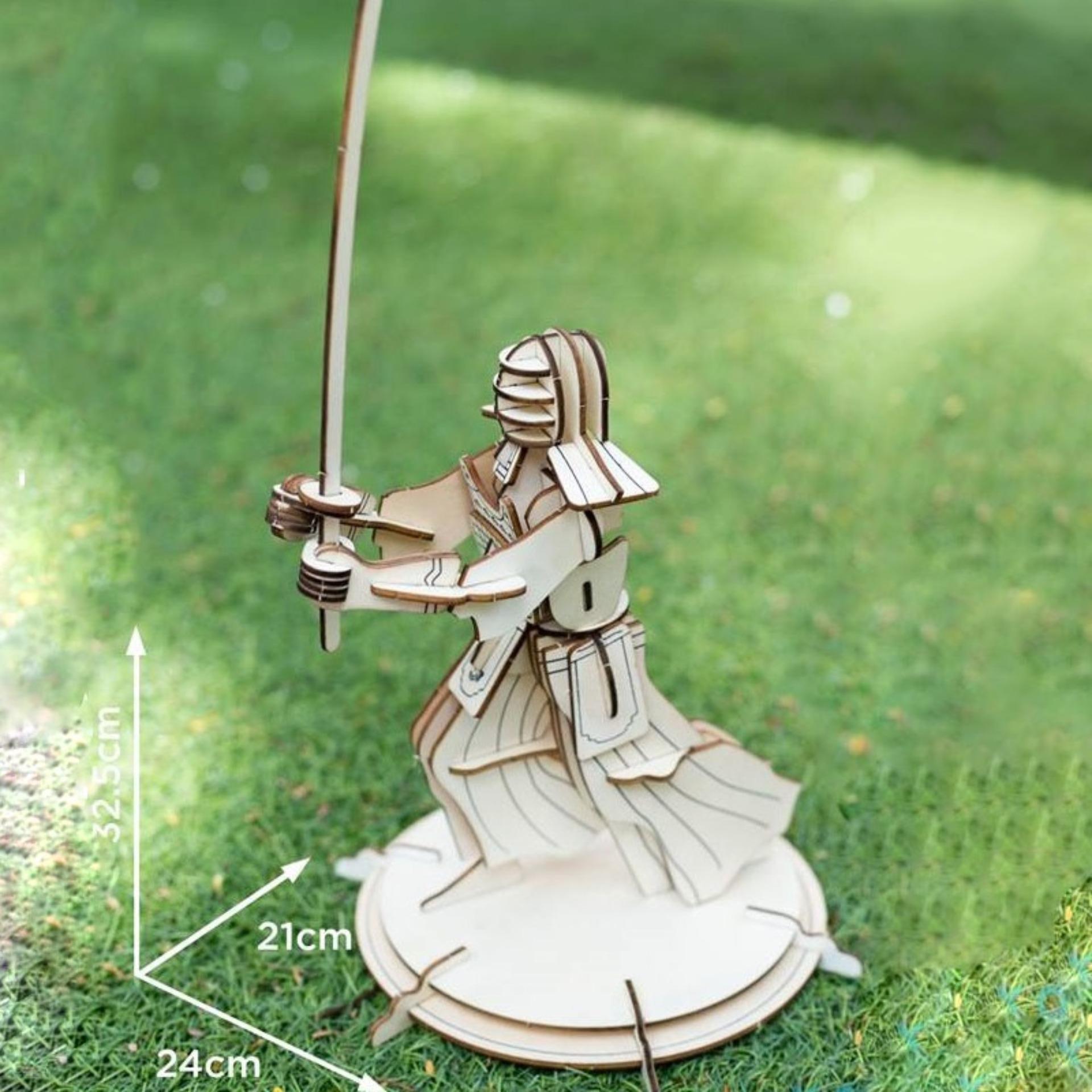 Hình ảnh Đồ chơi lắp ráp gỗ 3D Mô hình Võ sỹ Samurai