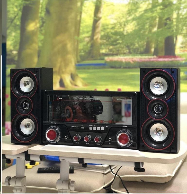 Dàn âm thanh tại nhà - loa vi tính cỡ lớn hát karaoke có kết nối Bluetooth USB Isky - SK335U 2.1 Tặng kèm Mic hát