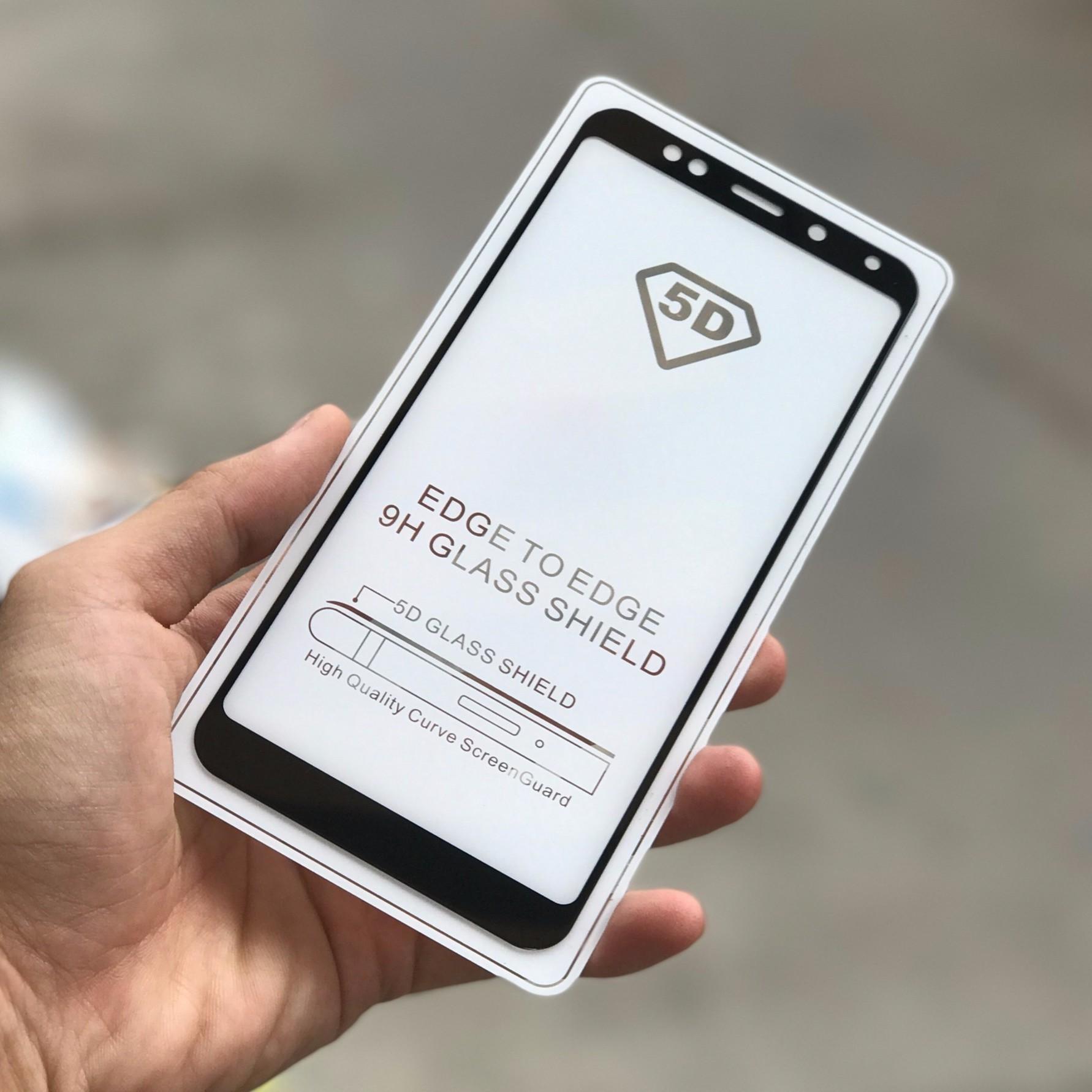 Mã Khuyến Mại Bộ 10 Miếng Dan Kinh Cường Lực Glass Full Man 5D Danh Cho Xiaomi Redmi 5 Plus Đen Trong Hà Nội