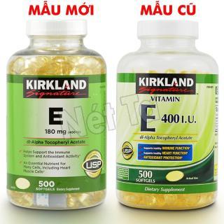 Vitamin E 400 I.U. Kirkland Signature hộp 500 viên từ Mỹ - Chống oxi hóa và làm đẹp cho da thumbnail