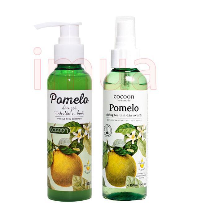 Hình ảnh Bộ dầu gội và xịt dưỡng tóc Pomelo Cocoon 130ml trị rụng tóc