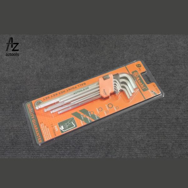 Bộ lục giác đầu bi 9 chi tiết  AK-0410