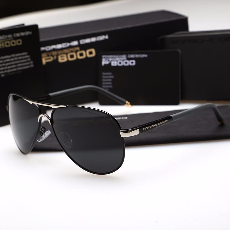 Mắt kính nam thời trang cao cấp P8000 ( đầy đủ hộp ) MẪU 2018