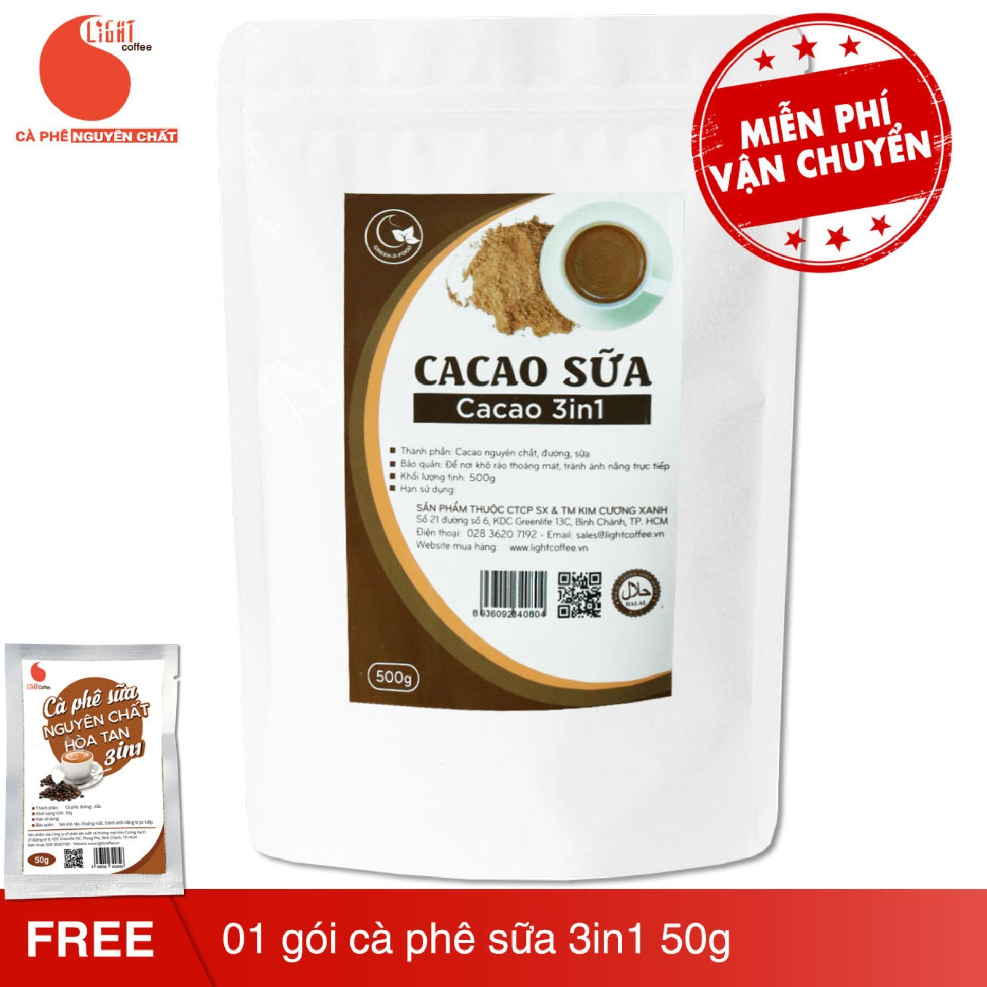 Hình ảnh Cacao 3in1 nguyên chất 100% - Light Cacao - 500gr