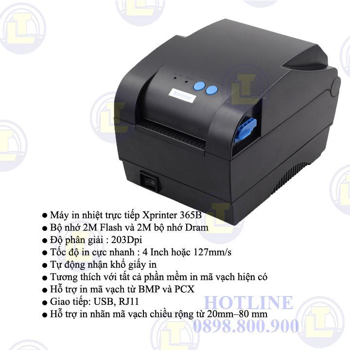Máy in mã vạch XPrinter-365B