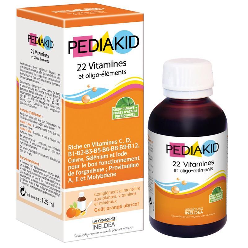 PEDIAKID 22 Vitamin Giúp Bé Phát Triển Toàn Diện