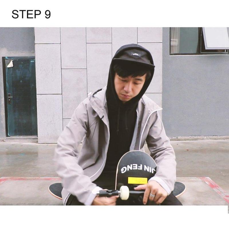 UINN Two Bare Feet Double Kick Complete Skateboard Cruiser 31x8 Concave Deck
