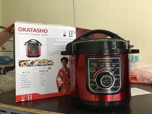 Hình ảnh Nồi áp suất điện đa năng OKATASHO 6L công nghệ Nhật (màu đỏ)