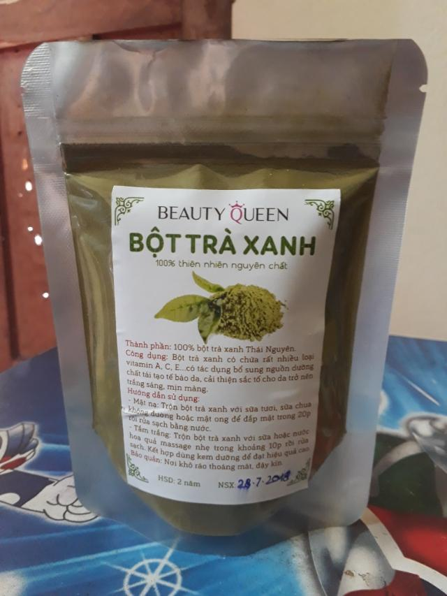 Bột trà xanh Thái Nguyên 100g nhập khẩu