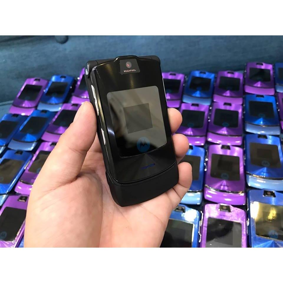Bán Điện Thoại Motorola V3I Zin Đen Tặng Sim 10 Số Trực Tuyến Trong Việt Nam